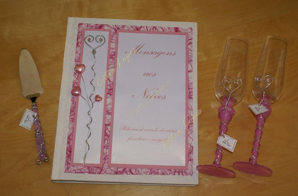 (Acessorios de noivas) = LHFLU - conjunto 4 - rosa