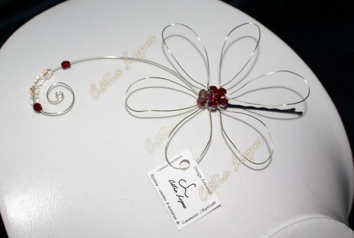 gancho flor8 - vermelha