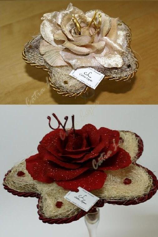 Porta Alianças - bouquet 2
