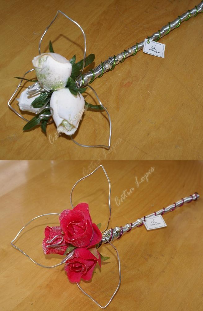 (Acessorios de Noivas) = PA - 3 rosas