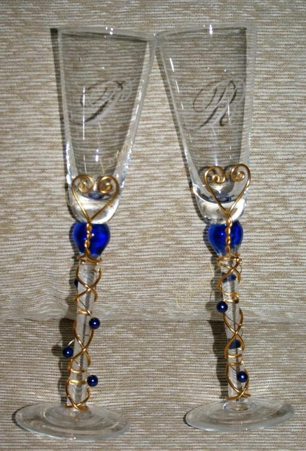 Flutes: copos mod1 -  (tipo1azuis)