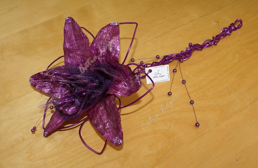(Acessorios de noivas) = PA - flor lilas