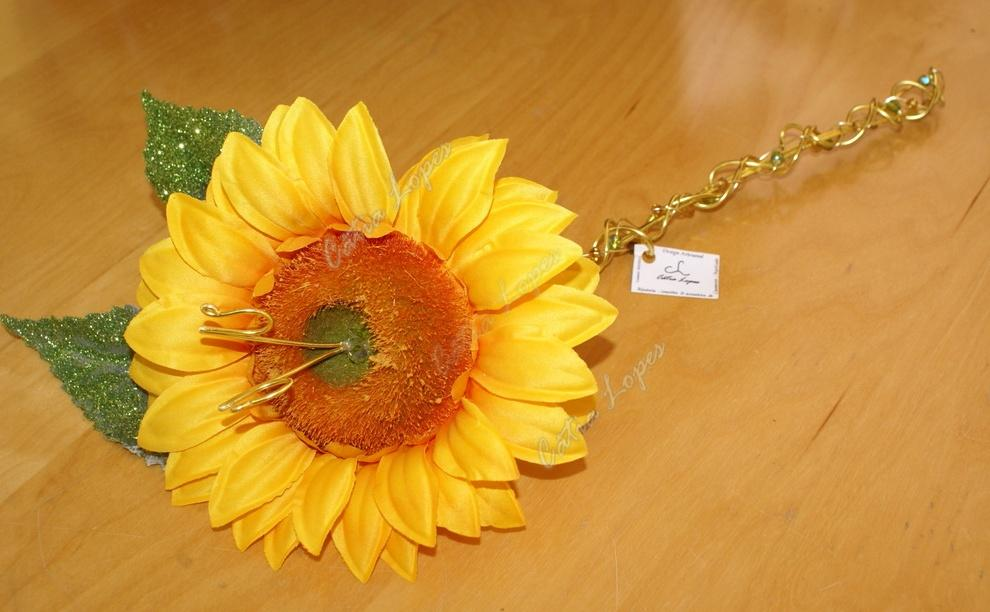 (Acessorios de Noivas) = PA - flor girassol 2