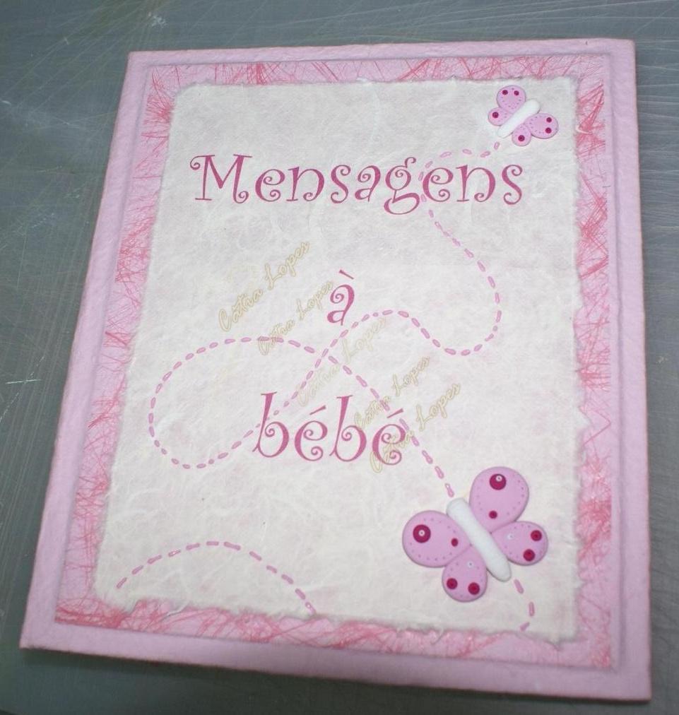 (Acessórios de Noivas) = livro bebé - modelo 1