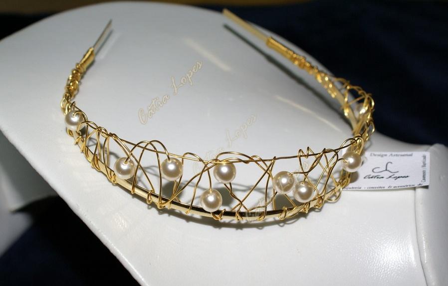 tiara katia4 - dourada