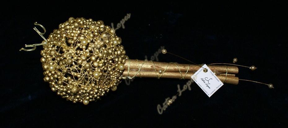 (Acessórios de Noivas) = PA - bola canela